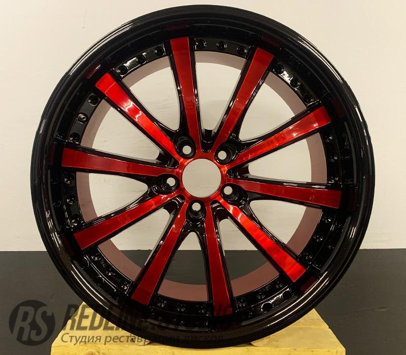 Красный + черный глянец