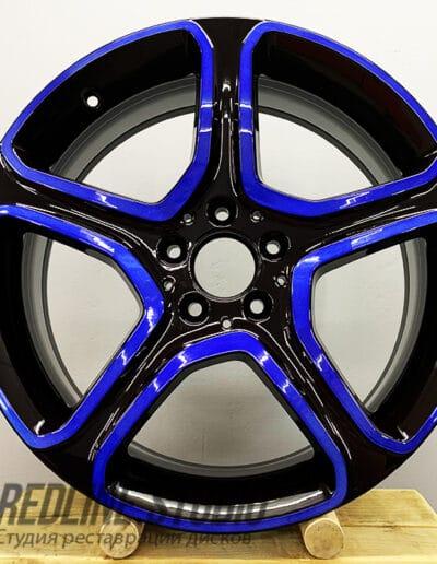 Черный + синий кэнди