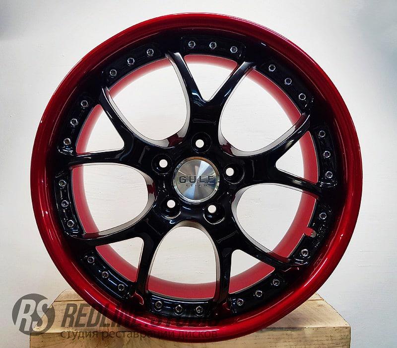 Черный глянец + красный кэнди (Lexus IS250)