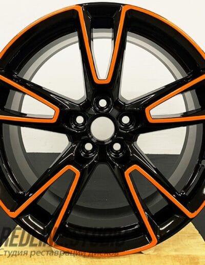 Черный глянец + оранжевый